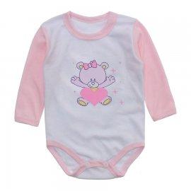 Imagem - Body Bebê Menina Estampado Lapuko - 10237-body-ml-coracao-rosa-bebe