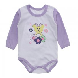 Imagem - Body Bebê Menina Estampado Lapuko - 10237-body-ml-flores-lilas