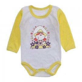 Imagem - Body Bebê Menina Estampado Lapuko - 10237-body-ml-florista-amarelo