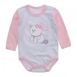 Imagem - Body Bebê Menina Estampado Lapuko - 10237-body-ml-gata-rosa-bebe
