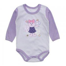 Imagem - Body Bebê Menina Estampado Lapuko - 10237-body-ml-sweet-lilas