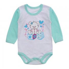 Imagem - Body Bebê Menina Estampado Lapuko - 10237-body-ml-ursa-dados-verde