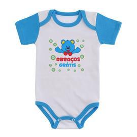 Imagem - Body Bebê Menino Estampado - 9971-body-branco-turquesa-abraços