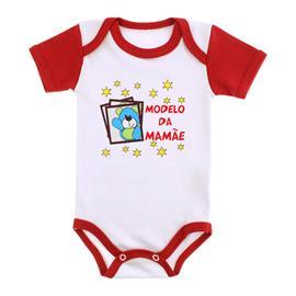 Imagem - Body Bebê Menino Estampado - 9971-body-mc-vermelho-modelo-mamae