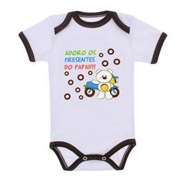 Imagem - Body Bebê Menino Estampado - 9971-body-mc-marrom-presentes-papai