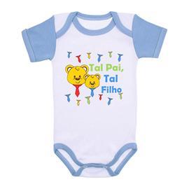 Imagem - Body Bebê Menino Estampado - 9971-body-mc-azul-tal-pai-tal-filho