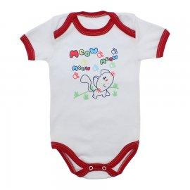 Imagem - Body Bebê Menino Estampado - 9971-body-mc-bco-vermelho