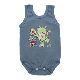Imagem - Body Bebê Regata Estampado - 10088-regata-menino-azul-medio