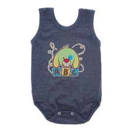 Imagem - Body Bebê Regata Estampado - 10088-regata-menino-azul-mescla