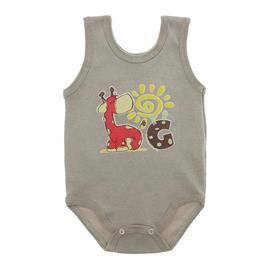 Imagem - Body Bebê Regata Estampado - 10088-regata-menino-bege
