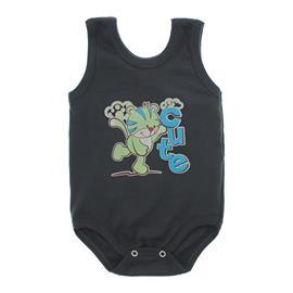 Imagem - Body Bebê Regata Estampado - 10088-body-regata-menino-chumbo