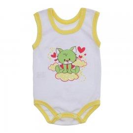 Imagem - Body Bebê Regata Estampado Lapuko - 10225-body-regata-menina-bco-amarel