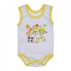 Imagem - Body Bebê Regata Estampado Lapuko - 10224-boyd-regata-bco-amarelo