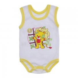 Imagem - Body para Bebê Menino Regata  - 10047-body-regata-menino-bc-amarelo