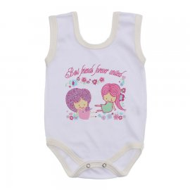 Imagem - Body Bebê Regata Estampado Lapuko - 10225-body-regata-bco-creme