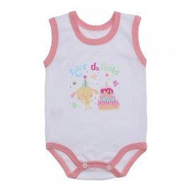 Imagem - Body Bebê Regata Estampado Lapuko - 10225-body-regata-branco-rosa
