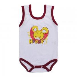 Imagem - Body Bebê Regata Estampado Lapuko - 10225-body-regata-bco-vinho