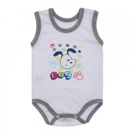 Imagem - Body para Bebê Menino Regata  - 10047-body-regata-mno-bco-mescla