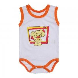 Imagem - Body para Bebê Menino Regata  - 10047-body-regata-bco-laranja-trato