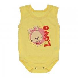 Imagem - Body Bebê Regata Estampado Lapuko - 10225-body-regata-amarelo-love