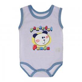 Imagem - Body Bebê Regata Estampado Lapuko - 10224-body-regata-panda-azul