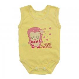 Imagem - Body Bebê Regata Estampado Lapuko - 10225-body-regata-pinguim-amarelo