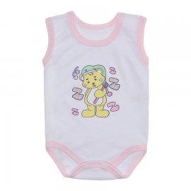 Imagem - Body Bebê Regata Estampado Lapuko - 10225-body-regata-rosa-bebe