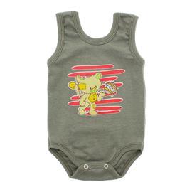 Imagem - Body Bebê Regata Estampado - 10088-regata-menino-verde-medio