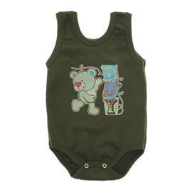 Imagem - Body Bebê Regata Estampado - 10088-regata-menino-verde-militar