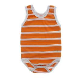 Imagem - Body Bebê Regata Lapuko - 10069-body-regata-listrado-laranja