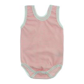 Imagem - Body Bebê Regata Lapuko - 10069-body-regata-listrado-rosa