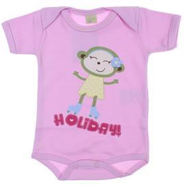 Imagem - Body de Bebê Manga Curta Holiday - 6016 - Rosa