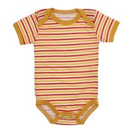Imagem - Body de Bebê de Malha Lapuko - 9937-body-mc-listrado-mostarda