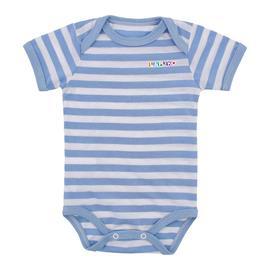 Imagem - Body de Bebê de Malha Lapuko - 9937-body-listrado-m-curta-azul