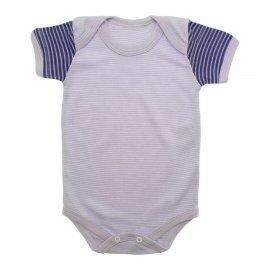 Imagem - Body de Bebê Manga Curta Listrado - 8747-body-mc-lilas-roxo