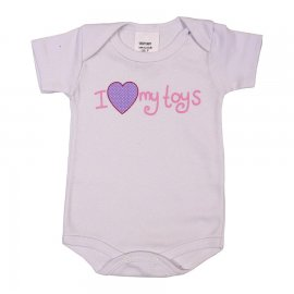 Imagem - Body de Bebê Manga Curta Smoby Baby - 6067-branco