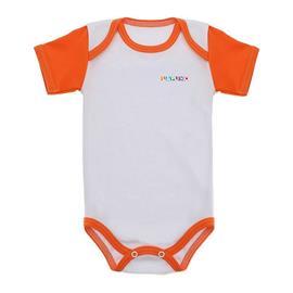 Imagem - Body de Bebê Manga Curta Lapuko - 9927-body-mc-lapuko-brc-laranja