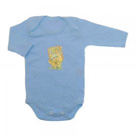 Imagem - Body de Bebê Manga Longa - 10126-body-ml-estampado-azul