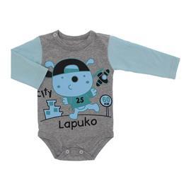 Imagem - Body de Bebê Manga Longa Estampado - 10052-body-ml-mescla-azul-bebe-city