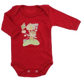 Imagem - Body de Bebê Manga Longa Estampado - 2438-vermelho