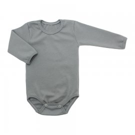 Imagem - Body de Bebê Manga Longa Ribana Lapuko - 5299-body-ml-rib-cinza