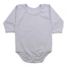 Imagem - Body de Bebê Manga Longa Ribana Lapuko - 5299-body-ml-ribana-cinza-gelo