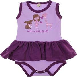 Imagem - Body de Bebê Vestido Meus Amiguinhos - 5735 - Lilas