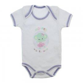 Imagem - Body de Bebê Menina - 10130-body-bebe-branco-mokey