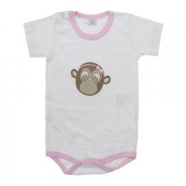 Imagem - Body de Bebê Menina - 10116-body-mc-macaca-rosa