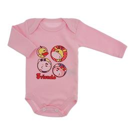 Imagem - Body de Bebê Manga Longa Friends - 9977-body-ml-rosa-friends