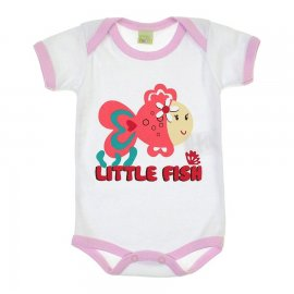 Imagem - Body de Bebê Little Fish 5887 - 5887 - Branco