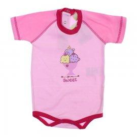 Imagem - Body para Bebê Manga Curta Sweet   - 6018 - Rosa