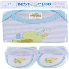 Body e Pantufa de Bebê - Best Club 6416