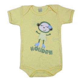 Imagem - Body de Bebê Manga Curta Holiday - 6016 - Amarelo